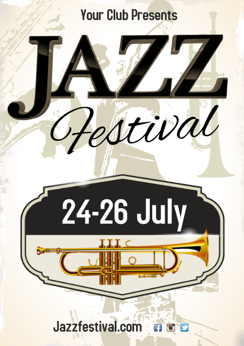 Jazz Festival Poster Template | PosterMyWall