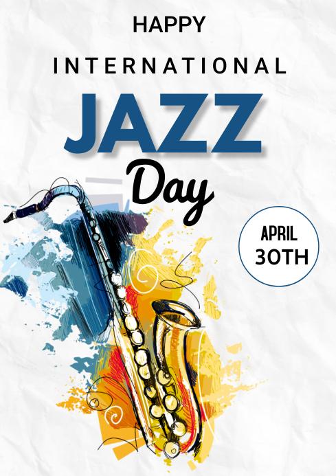 Jazz Flyers A3 template