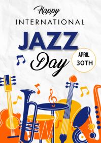 Jazz International Day Flyer A3 template