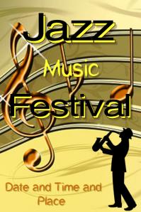 Jazz Music Festival poster template