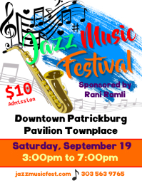 Jazz Music Festival Flyer