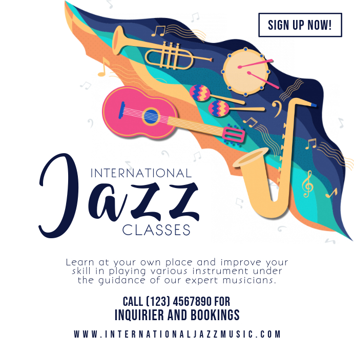 Jazz Music Tuition Classes Instagram Ad