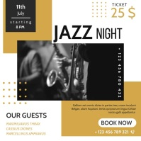 jazz night advertisement instagram post banne template