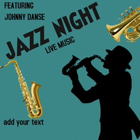 JAZZ NIGHT BAR EVENT CONCERT BAND Instagram Post template
