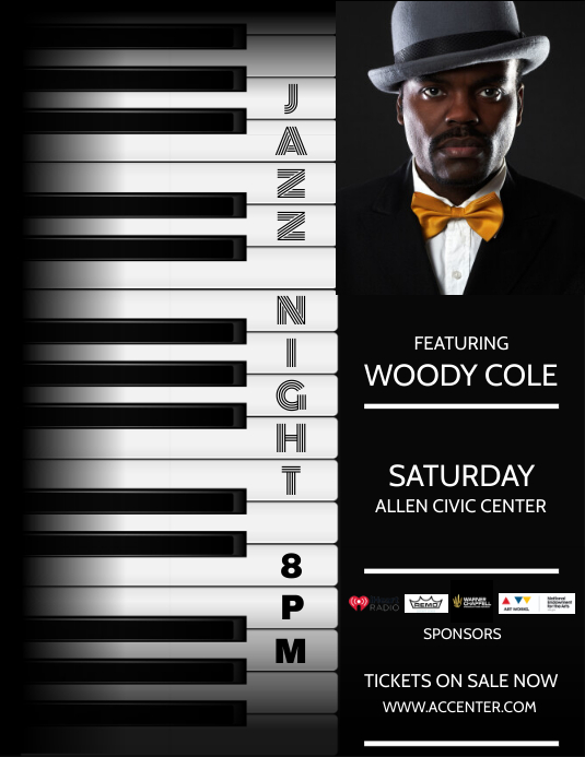 JAZZ NIGHT Folder (US Letter) template
