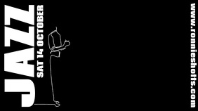 Jazz Night Doodle Video Template Ecrã digital (16:9)