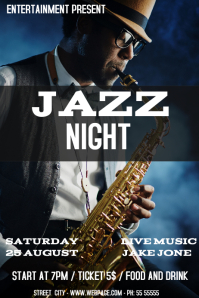 Jazz night event flyer template