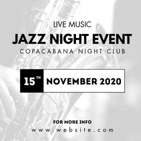 jazz night event instagram advertisement template