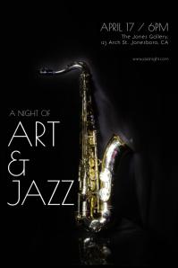 Jazz Night Flyer Poster template
