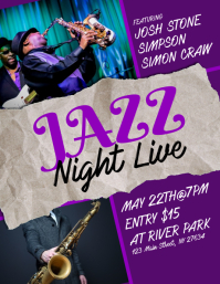 Jazz Night Live Flyer template
