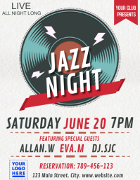Jazz night old record template Flyer (US Letter)