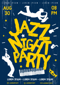 JAZZ NIGHT POSTER A4 template