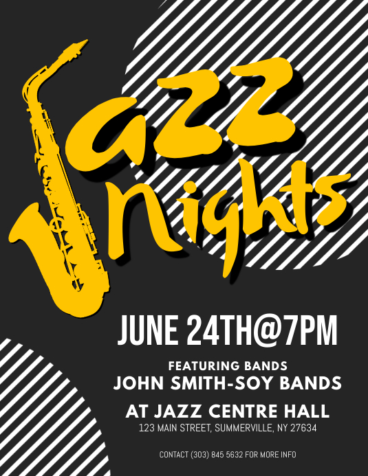 Jazz Nights Flyer