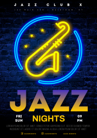 JAZZ NIGHTS POSTER A4 template