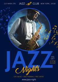 JAZZ POSTER A4 template