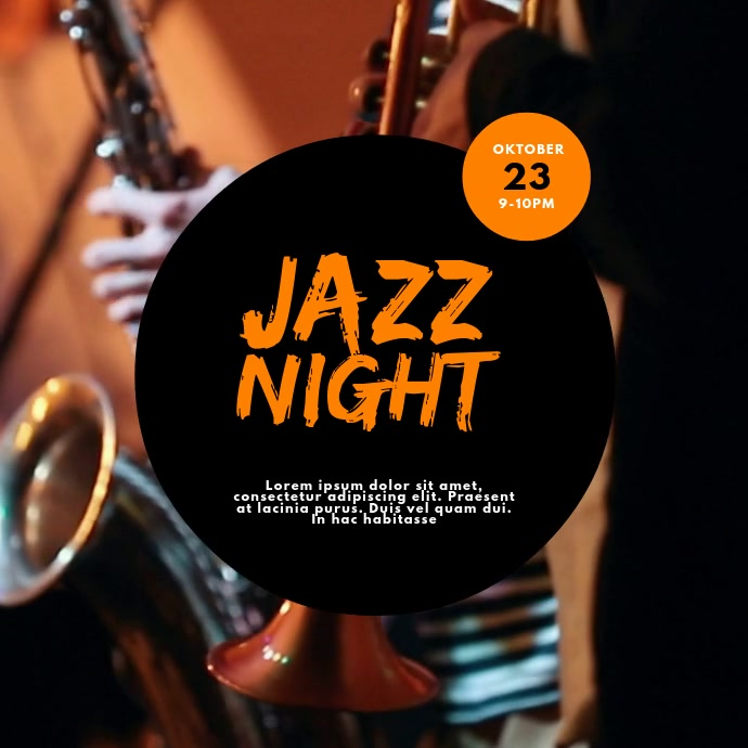 jazz saxophone event video design template
