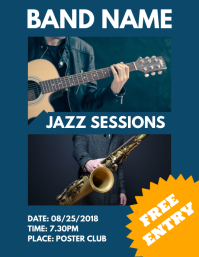 Jazz Sessions Flyer Template