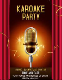 Jazz templates,karaoke templates,concert templates 传单(美国信函)