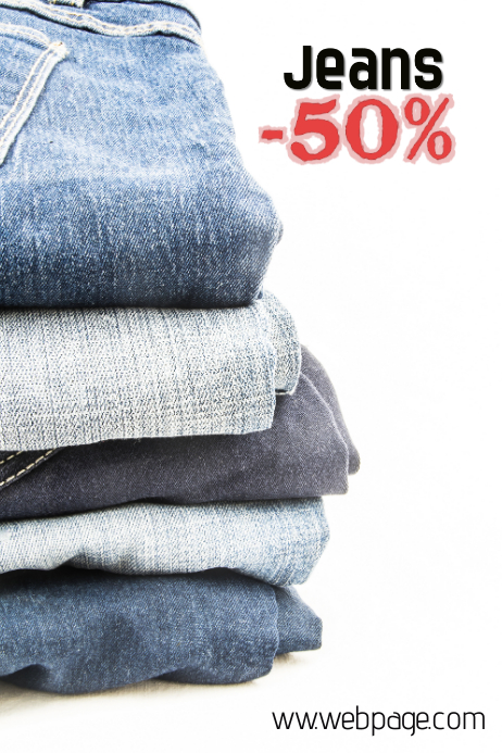 jeans sale poster