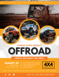 Jeep Rally Event Flyer Template Ulotka (US Letter)