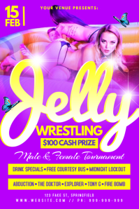 Jelly Wrestling Poster Плакат template