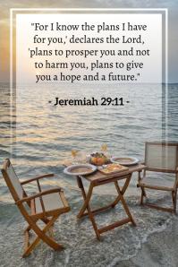 Jeremiah 29:11 Póster template