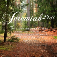 Jeremiah 29:11 Instagram na Post template