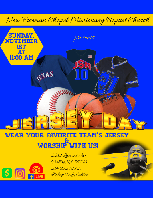 Jersey Day 2020 Flyer (US Letter) template
