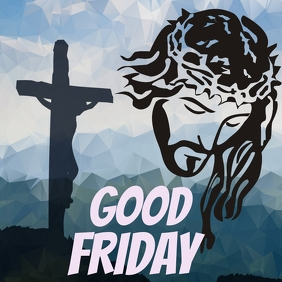Jesus Christ | Good Friday Portada de Álbum template