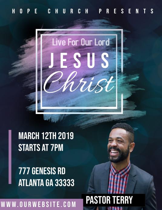 Jesus Christ Flyer Pamflet (Letter AS) template