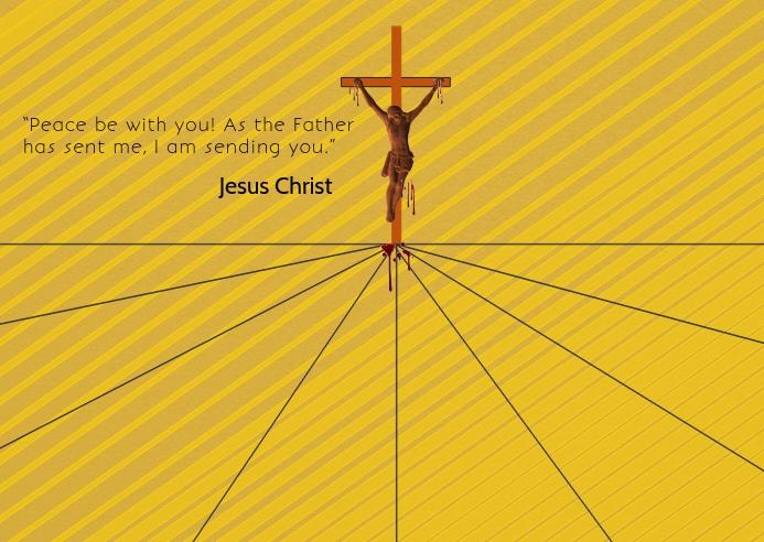 Jesus Christ poster card