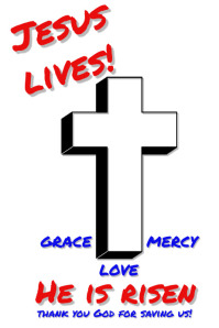 Jesus Lives Poster template