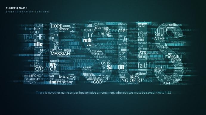 Jesus online worship service zoom background Præsentation (16:9) template