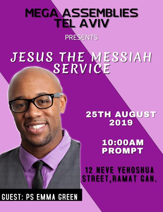 Jesus The Messiah Service Template