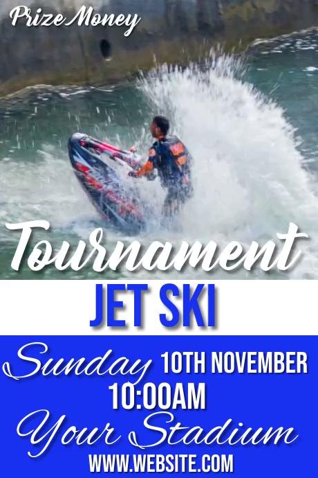 jet ski Póster template