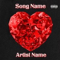Jewel Heart R&B Cover Copertina album template