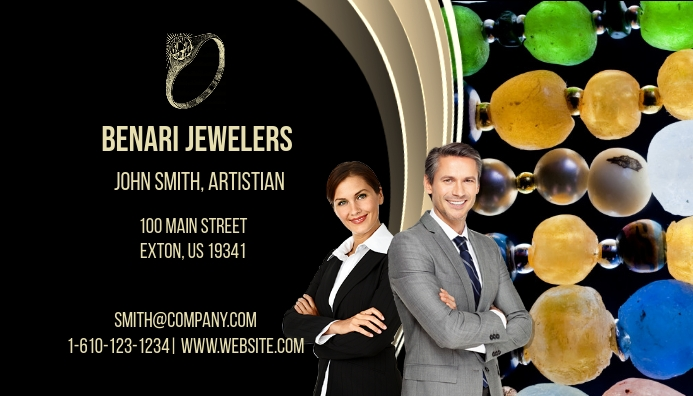 Jewelers Business Card Visitenkarte template