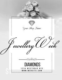 jewellery AD POSTER FLYER TEMPLATE ใบปลิว (US Letter)