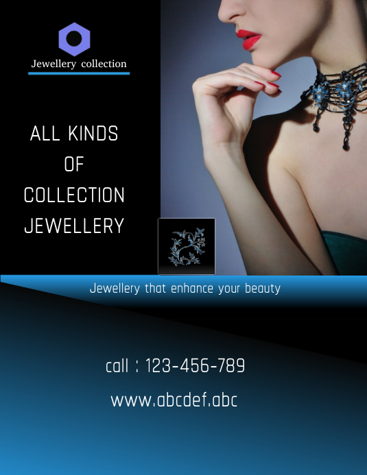 jewellery designs,poster,small business flyer