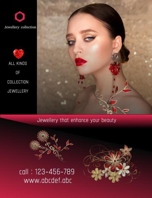 jewellery designs flyer,poster,small business flyer