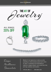 Jewelry Advertisement Online Ad A4 template