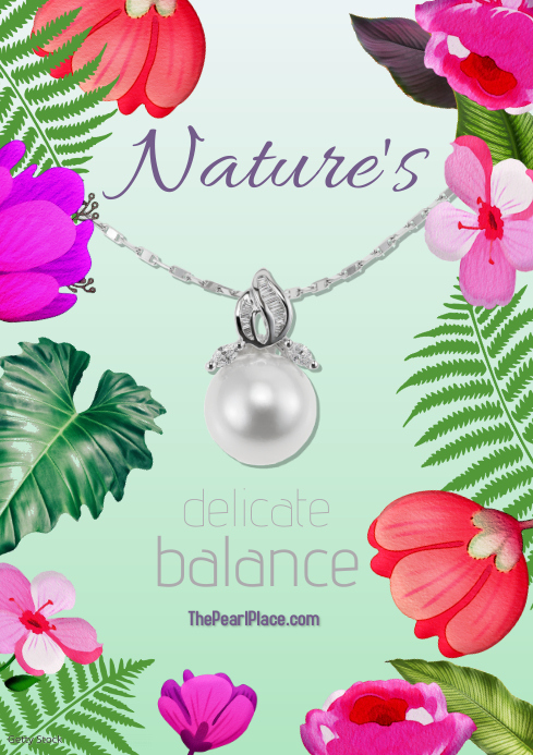 jewelry/pearls/jewel/nature/precious stones A3 template