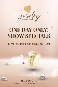 Jewelry Special Offer Advertisement Flyer