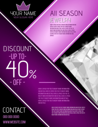 jewelry STORE SALES EVENT FLYER 传单(美国信函) template