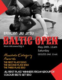 Jiu Jitsu Poster Template Flyer (US Letter)