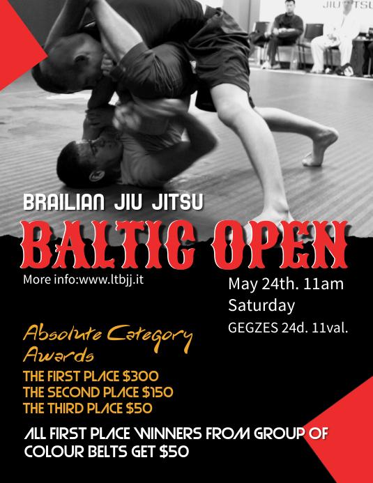 Jiu Jitsu Poster Template ใบปลิว (US Letter)