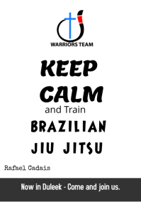 Brazilian Jiu Jitsu Poster template