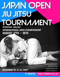 Jiu Jitsu Tournament Poster Template