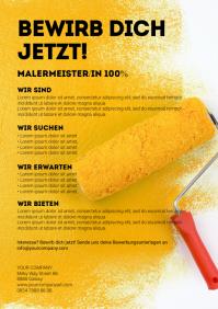 job Advertisement employee wanted Flyer din