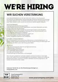 Job advertisement flyer poster we're hiring